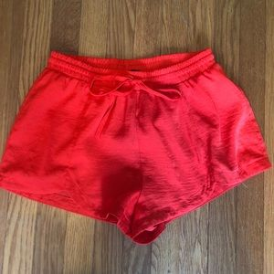 Women's Red Forever 21 Silky Shorts
